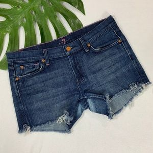 Cut-Off Distressed Jean Shorts | 7 For All Mankind